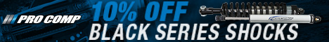 10% OFF Pro Comp Black Series Shock Absorbers
