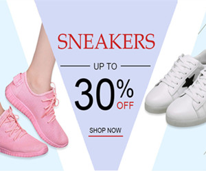Get Up to 30% OFF Fashion Snearkers.