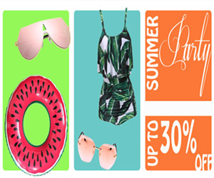 Get UP TO 30% OFF Summer Party Sale.