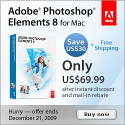 Save $30 off Adobe Photoshop Elements 8 for Mac