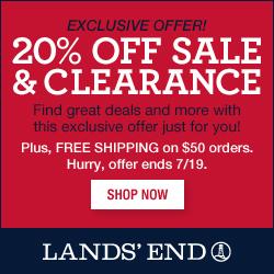 Lands' End 20% off Sale Exclusive