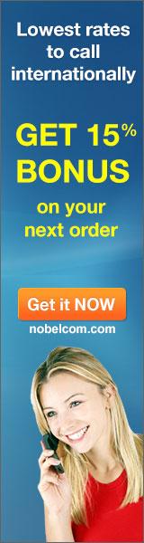 NobelCom prepaid phone cards