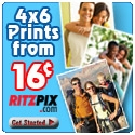 Ritz Pix 4X6 .16 Prints