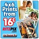 Ritz Pix 4X6 .16 Prints