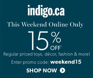 Take 15% Off Regular Priced Home Decor, Style & More at Indigo.ca!