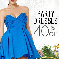 Chicnova comes 30% off daily dress and 40% off party dress for the coming Christmas.