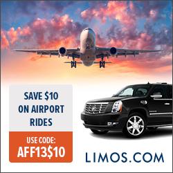 Limos.com $10 Off Airport Rides