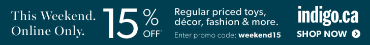 Take 15% Off Regular Priced Home Decor, Style & More at Indigo.ca! This Weekend Only, April 10-12