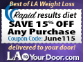 LA to Your Door Rapid Results Diet Program 15% Off