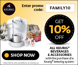 Get 10% off all Keurig Brewed® beverages & accessories