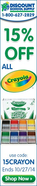 Save 15% Off All Crayola Products & Get FREE SHIPPING On Any Order Over $79 Now At DiscountSchoolSup