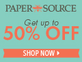 50% off select gifts at Paper Source!  Shop now!