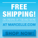 FREE SHIPPING on orders over $75 or more at Marcelle.com!