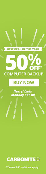 Carbonite cloud backup is now 50% off! Shop now and save!