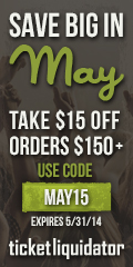 $15 off $150 or more May coupon