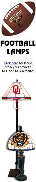 Football Lamps from your favorite NFL & NCAA Teams
