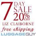 20% Off Liz Claiborne Luggage