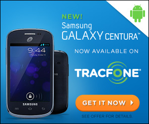 Samsung Galaxy Centura with TracFone promo codes