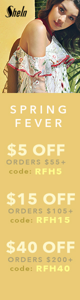 Save up to 40% on items with coupon code RFH40 at SheIn.com! Ends 2/27