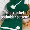 Free crochet pot holder pattern!