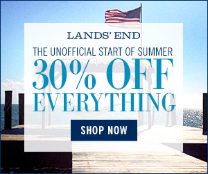 Receive 30% off everything at Lands' End.