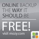 Free backup is finally here. Mozy Remote Backup.