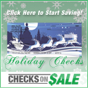 Checks on Sale Christmas Square Button