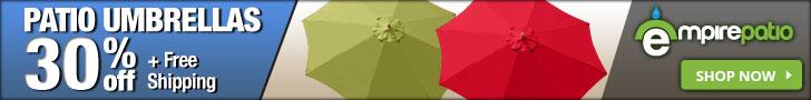 30% off EmpirePatio Patio Umbrellas