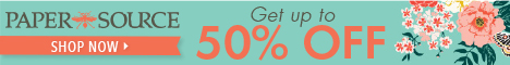 20% off on custom items at Paper Source.