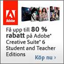 Få upp till 80% rabatt - Adobe CS6