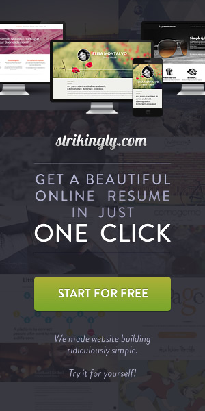 Strikingly - How to make a resume in seconds