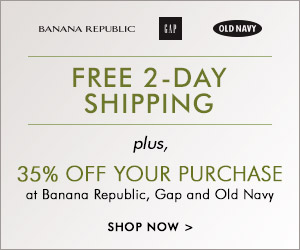 Old Navy, Banana Republic & Gap: 35% Off + Free 2-Day Shipping