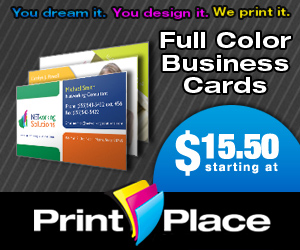 PrintPlace coupons for Full Color business cards