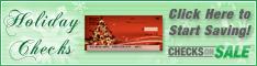 Checks on Sale Christmas Checks
