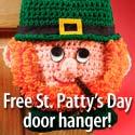 Free crochet door hanger for St. Patrick's Day!