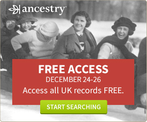 Free access to Ancestry until 26th