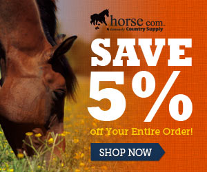 5% off Any size order at Horse.com
