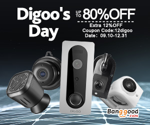 Extra 12% OFF For Digoo's Day Promotion