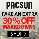PacSun: Extra 40% Off on Mens Markdowns, Extra 30% Off on Womens Markdowns