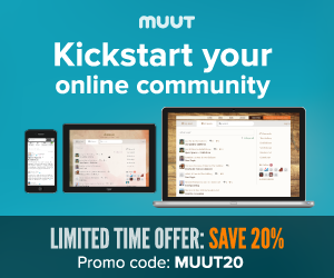 300x250 Save 20% off Muut Real Time Forum