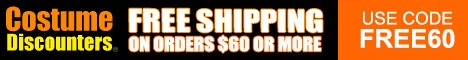 Free Shipping at Costume Discounters