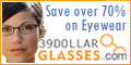 Hottest Style Glasses, Frame AND Lenses, for $39!!
