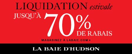 (7/25-8/24) Jusqu'à 70 % de rabais sur la marchandise en liquidation à labaie.com