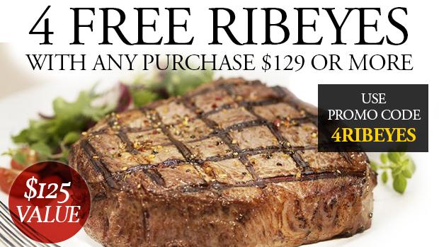 Chicago Steak Company - Free 4 Ribeye