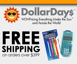 Free Shipping On Orders Over $399 at DollarDays.co