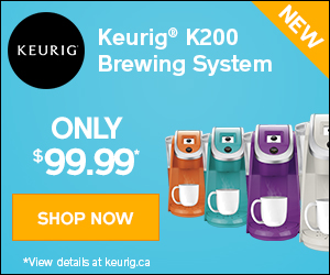 Get the new Keurig K200 brewing system for $99.99. Hurry up, it's only for a limited time!