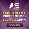 $10 Off at the A&E Shop