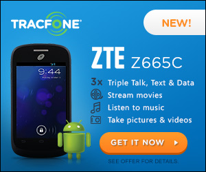 ZTE Z665C with Android Using TracFone Promo Codes