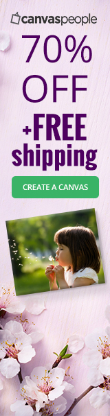 70% off all canvas prints and FREE SHIPPING!