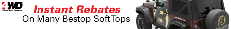 Bestop – Instant Rebates on Many Bestop Soft Tops